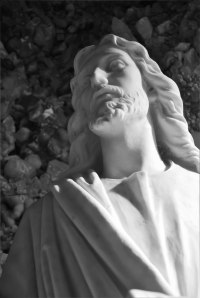 Statue of Jesus at the Grotto of the Redemption, West Bend IA